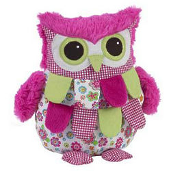 Baby's Pink and Green Owl Pillow