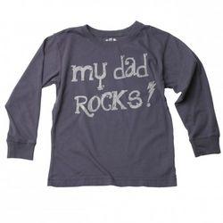 Big Boys My Dad Rocks Long Sleeve T-Shirt
