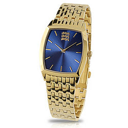 Men's 18K Plated Gold Pride of England Watch