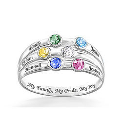 Personalized My Family Pride and Joy Birthstone Ring