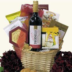 Tavernello Vino Rosso Italian Wine Gift Basket
