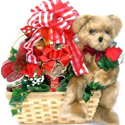 Bear Hugs Teddy Bear Gift Basket