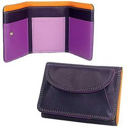 Small Purple Trifold with Coin Pocket