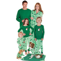 Let it Snow, Man! Matching Family Christmas Pajamas