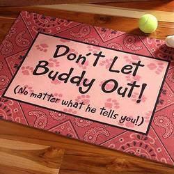 Don't Let The Pet Out! Doormat