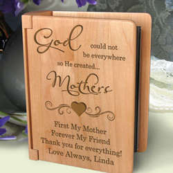 Personalized God Created You Wooden Photo Album