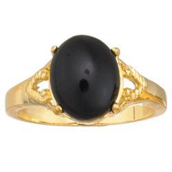 Onyx Cabochon Ring