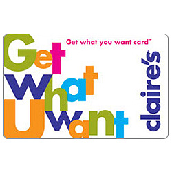 Claires Get What U Want Gift Card