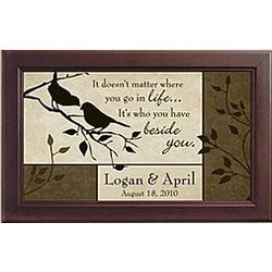 Personalized Bird Couple Framed Art Print