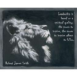 Stalwart Lion Personalized Print