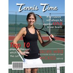 Tennis Personalized Magazine Cover