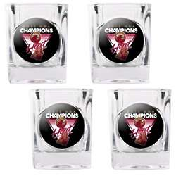 Miami Heat NBA Champions Square Shot Glasses
