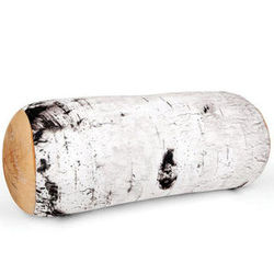 Birch Tree Log Pillow
