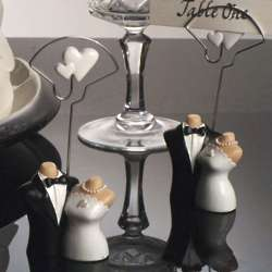 Joined at the Hip Bride and Groom Place Card Holder