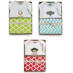 Safari Animal Baby Crawler and Burp Cloth