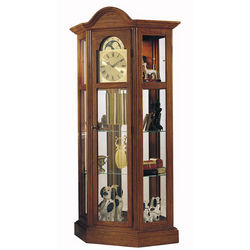 Richardson II Grandfather Clock and Curio Cabinet