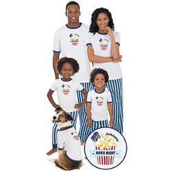 Matching Cotton Movie Night Family Pajamas