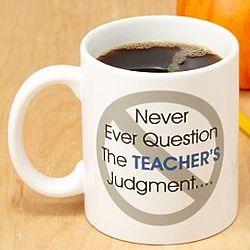 Personalized Never Ever Question Coffee Mug