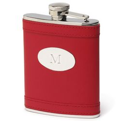 Engravable Leather Wrapped Flask