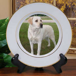 Picture Perfect Pet Photo Ceramic Plate