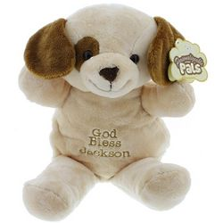 Personalized God Bless Plush Puppy Pal