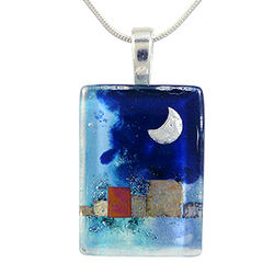 Midnight Moon Glass Necklace