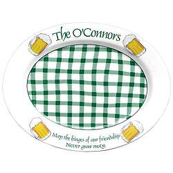 Personalized Irish Platter with Beer Mugs
