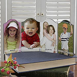 Personalized Photo Sentiments Petite Quadruple Photo Plaque