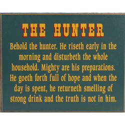 Behold the Hunter Sign
