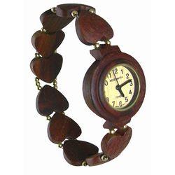 Ladies Heart Bead Traditional Sandalwood Watch