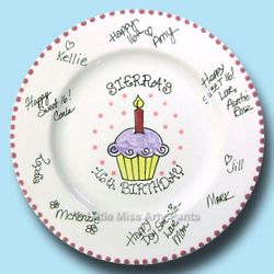 Pink Birthday Cupcake Signature Plate Kit