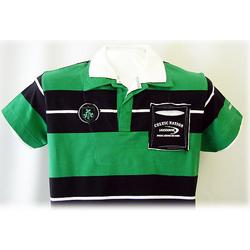 Green and Black Striped Rugby Shirt