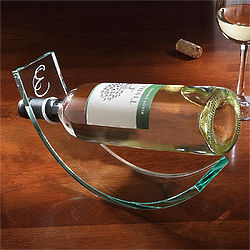 Personalized Crystal Wine Cradle