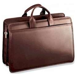 Platinum Edition Zip Top Leather Briefcase