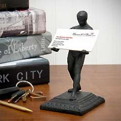 Strong Man Business Card Holder