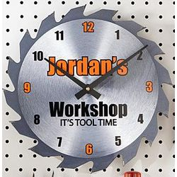 Personalized Saw Blade Clock