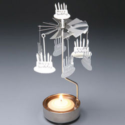 Happy Birthday Spinning Celebration Candleholder