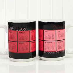 It's a Date Personalized Calendar Large Coffee Mug