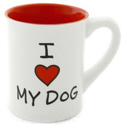 I Heart My Dog Ceramic Mug