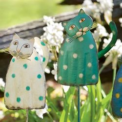 Springy Cat Garden Stake