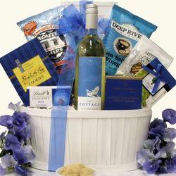 The Cottage Sauvignon Blanc White Wine Gift Basket