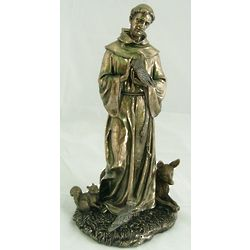 Bronze St. Francis With Animals Sculpture
