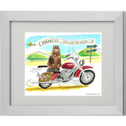 Personalized Picture Your Biker Pet Print