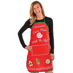 Don't Mess with the Chef Holiday Baking Apron