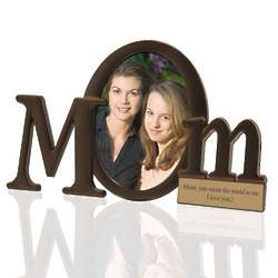 Mom Personalized Bronze Finish Picture Frame