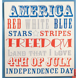 Old-Fashioned Americana 4th of July Wall Sign