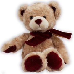 Burgundy Velvetina Teddy Bear
