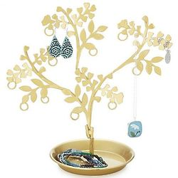 Dancing Brass Jewelry Tree