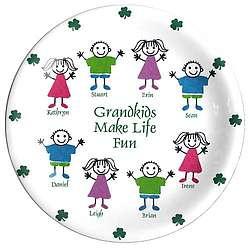 Personalized Irish Grandkids Plate