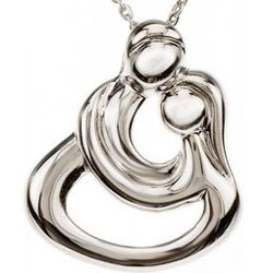 Embraced by the Heart Couples Embrace Necklace with Poem